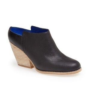 JEFFREY CAMPBELL Leather Slip On Heeled Mule 8.5